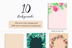 Floral Invitation Backgrounds Product Image 2