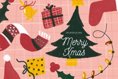 Merry Xmas Hand Drawn Illustration Pack Product Image 1