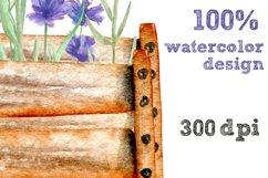Garden tools Watercolor clip art Product Image 5