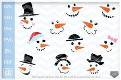 Snowman Faces SVG - Snowman Svg - Christmas bundle SVG Product Image 1