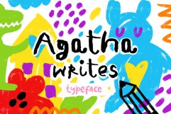 Agatha Writes - Hand Drawn Typeface Product Image 1