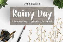 Rainy Day Handwriting Script Font Product Image 1