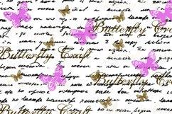 Old Letters Digital Paper, Vintage letters scrapbook Paper Product Image 5