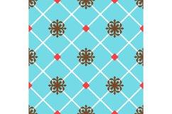 Blue spanish ornamental ceramic tile Product Image 1