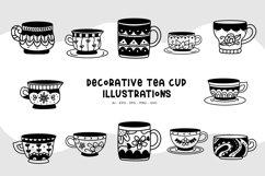 Decorative Tea Cup Illustrations Product Image 1