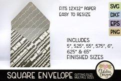 Square Envelope SVG - Square Envelope SVG Cutting File Product Image 5