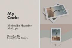 Minimalist Magazine Mockup Product Image 1