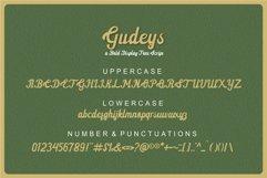Gudeys - a Bold Display font Product Image 5