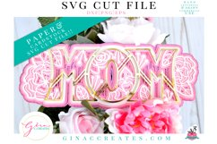 3D MOM Layered SVG Cut File Product Image 1