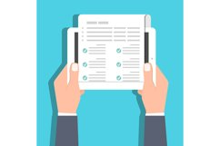Checklist, Claim form online concept. Vector illustration Product Image 1