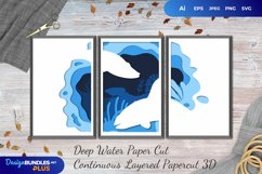 3D Papercut Deep Water Layered Template Product Image 1