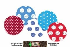 Patriotic July 4th Grunge Backgrounds for Dye Sublimation Product Image 2
