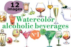 Watercolor alcohol vector set Product Image 1