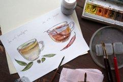 Watercolor tea-2 vector set Product Image 4