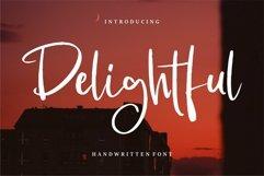 Web Font Delightful - Handwritten Font Product Image 1