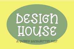 Design house - a quirky handwritten font Product Image 1