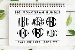 BIG Monogram Cut File & Font Bundle | The Ultimate Bundle! Product Image 1
