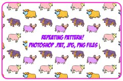 Highland Cow Cartoon Collection PNG, JPG, ESP, Pattern, SVG Product Image 4