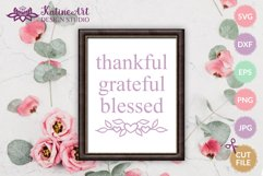 Floral heart text divider, leaves decorative svg cut file Product Image 3
