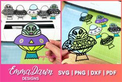 UFO MINI BUNDLE SVG 6 Mandala / Zentangle Designs Product Image 2