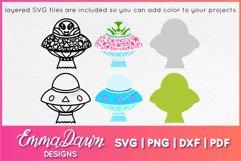UFO MINI BUNDLE SVG 6 Mandala / Zentangle Designs Product Image 3