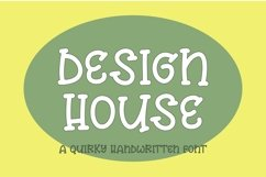 Web Font Design house - a quirky handwritten font Product Image 1