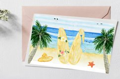 Summer. Watercolor Clipart. Watercolor Holiday rentals set. Product Image 6