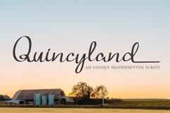 Quincyland an Unique Handwritten Script Product Image 1