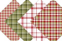Christmas Digital Paper  - Plaid Digital Paper Product Image 3