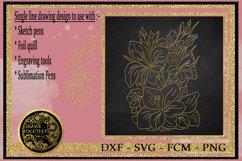 Gladiolus - Single line for Foil Quill, Digi Stamp. Product Image 1