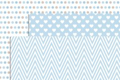 Boy Teddy Bear Digital papers and Clipart SET Product Image 4