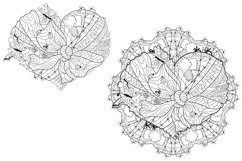 Hearts zentangle for coloring pages Product Image 5