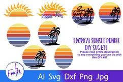 Tropical Sunset Bundle DIY Kit SVG Product Image 1