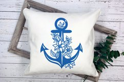 Floral Anchor Intricate Cut File - SVG Product Image 5