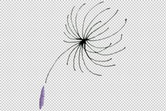 Bouquet rainbow dandelion watercolor png Product Image 3