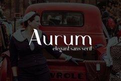 Aurum. Elegant Sans Serif typeface. Product Image 9
