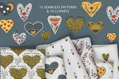 Valentine Love Patterns and Cliparts Product Image 2