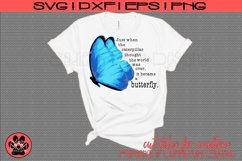 Butterfly Saying - Just When the Caterpillar | SVG Cut File Product Image 2