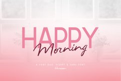 Happy Morning Font Duo Product Image 1
