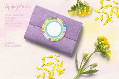 Spring Circle Frames Clipart Set of 24 PNG files Product Image 4