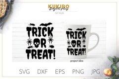 Trick or Treat SVG - Halloween SVG, bugs, bat, spider, skull Product Image 1