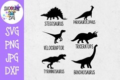 Dinosaur Icons SVG - Dinosaurs with Names SVG - Dinosaur SVG Product Image 1