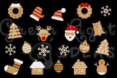 Christmas Gingerbead Cookies Clipart, Christmas Clip Art, Christmas Graphics Product Image 2