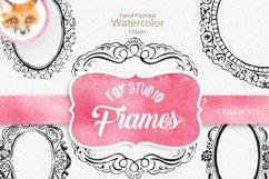 Digital Download Watercolor Cliparts Frames Flourish Digital Product Image 1