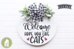 Hope You Like Cats SVG Files, Funny Front Door SVG Product Image 1