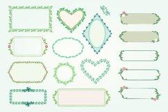 Pack of 100 Floral Frames, vector clipart bundle Product Image 3