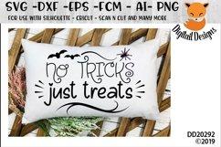No Tricks Just Treats Halloween SVG Product Image 1