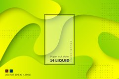Set of abstract liquid backgrounds. Product Image 1