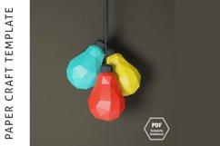 Lowpoly 3D Bulb/Papercraft/3D Papercraft/Papercraft Pdf Product Image 4