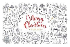 Merry Christmas and New Year doodle and lettering collection Product Image 1